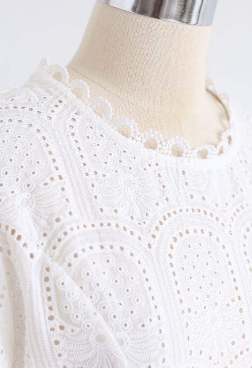 アイレット刺繍ワンピース