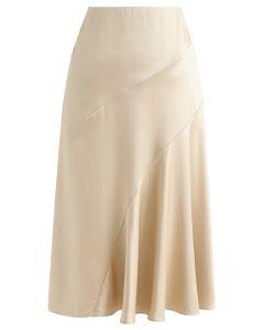 フリル裾スカート ゴールド