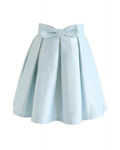 ジャガードスカート ブルー