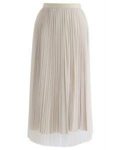 プリーツスカート サンド