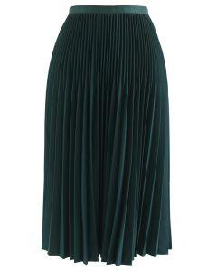 プリーツAラインスカート グリーン