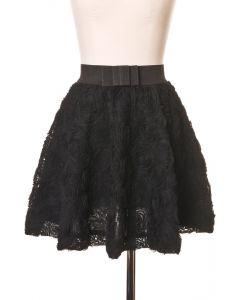 黒いバラ/フレアスカート