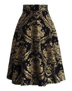 ゴージャス刺繍ジャカードスカート