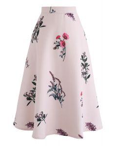 花柄Aラインスカート