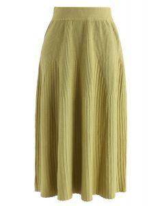ラディアントラインニットスカート グリーン